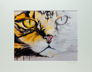 Original Watercolor Print - Cat