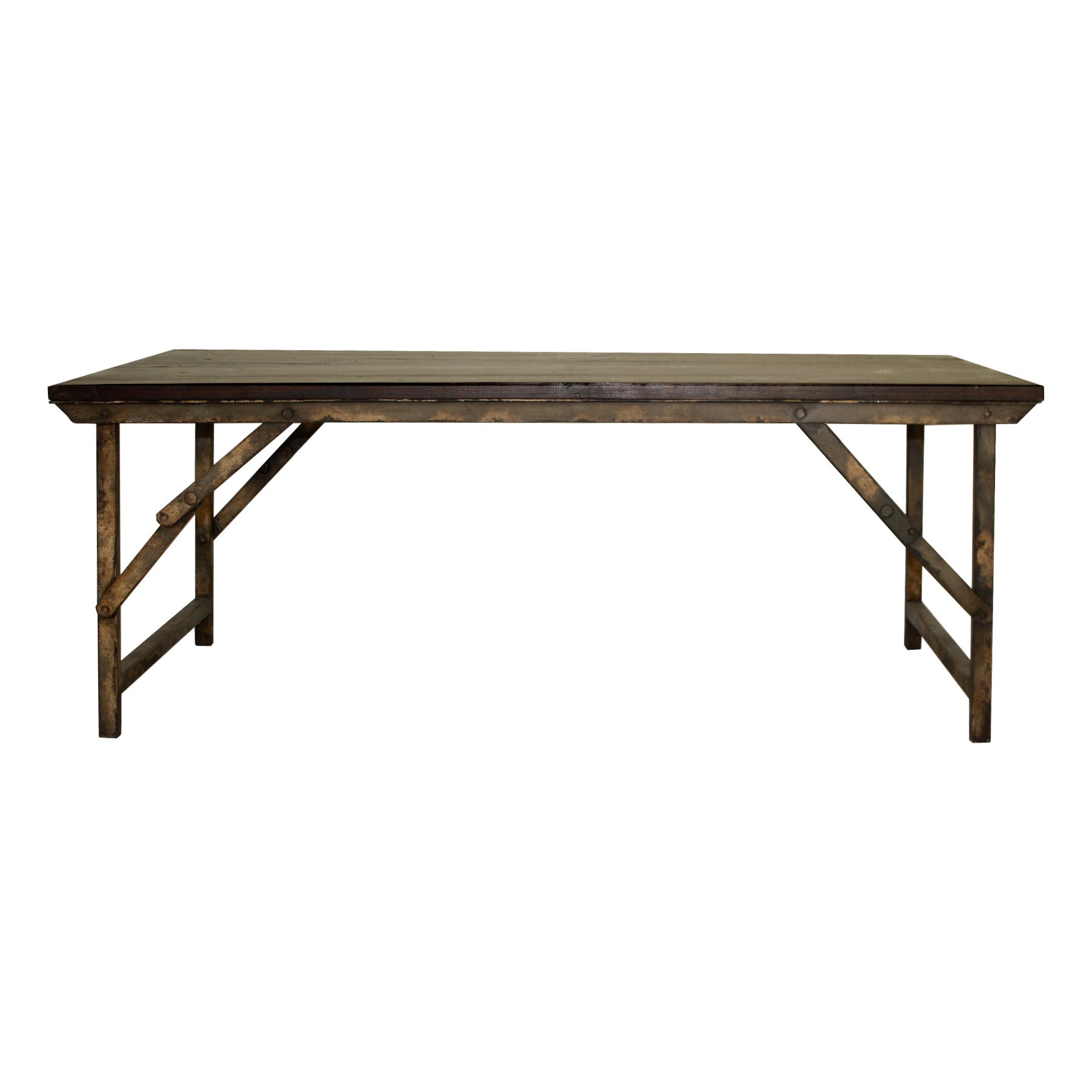 Campaign Folding Coffee Table – San Luis Obispo Furniture Store