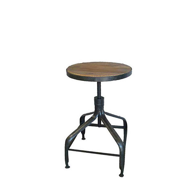 The Mechanic Stool - this bar stool has a strong iron base with a 15   sc 1 st  Habitat Home u0026 Garden & Mechanic Stool u2013 San Luis Obispo Furniture Store | Habitat Home ... islam-shia.org