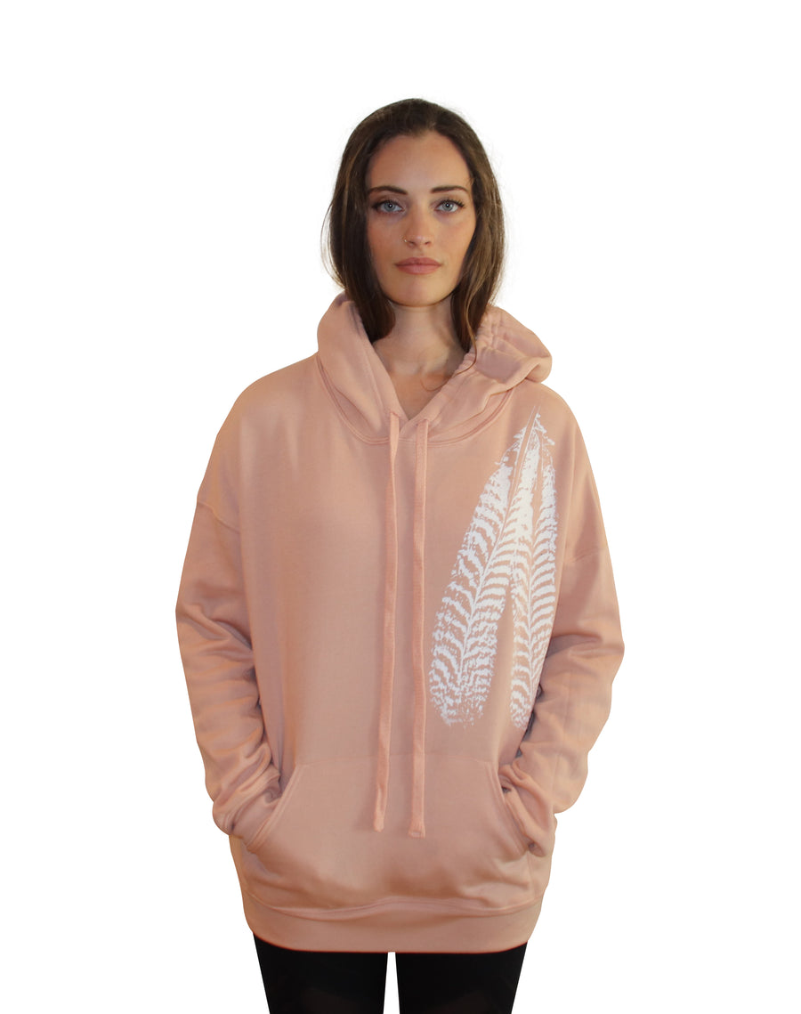 FEATHER PRINT Full Length Hoodie