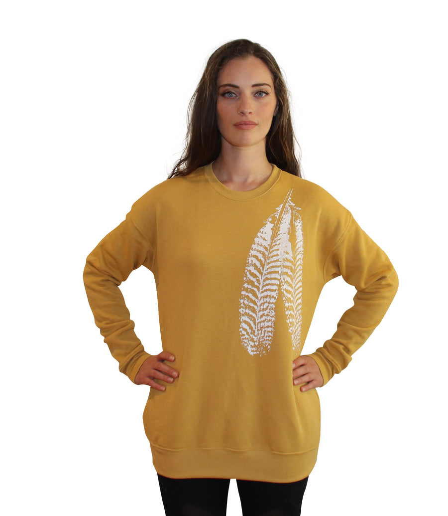 FEATHER Full Length Crew Neck