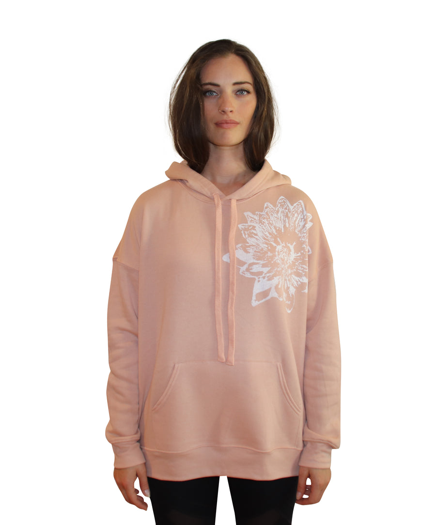 LOTUS PRINT Full Length Hoodie-Wholesale