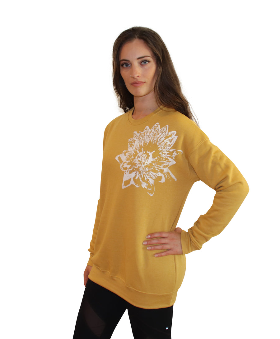 LOTUS PRINT Full Length Crew Neck