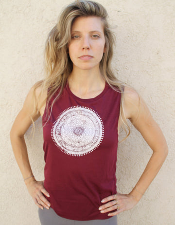 MANDALA PRINT Muscle Tank - Wholesale