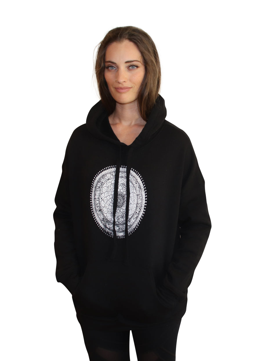 MANDALA PRINT Full Length Hoodie-Wholesale