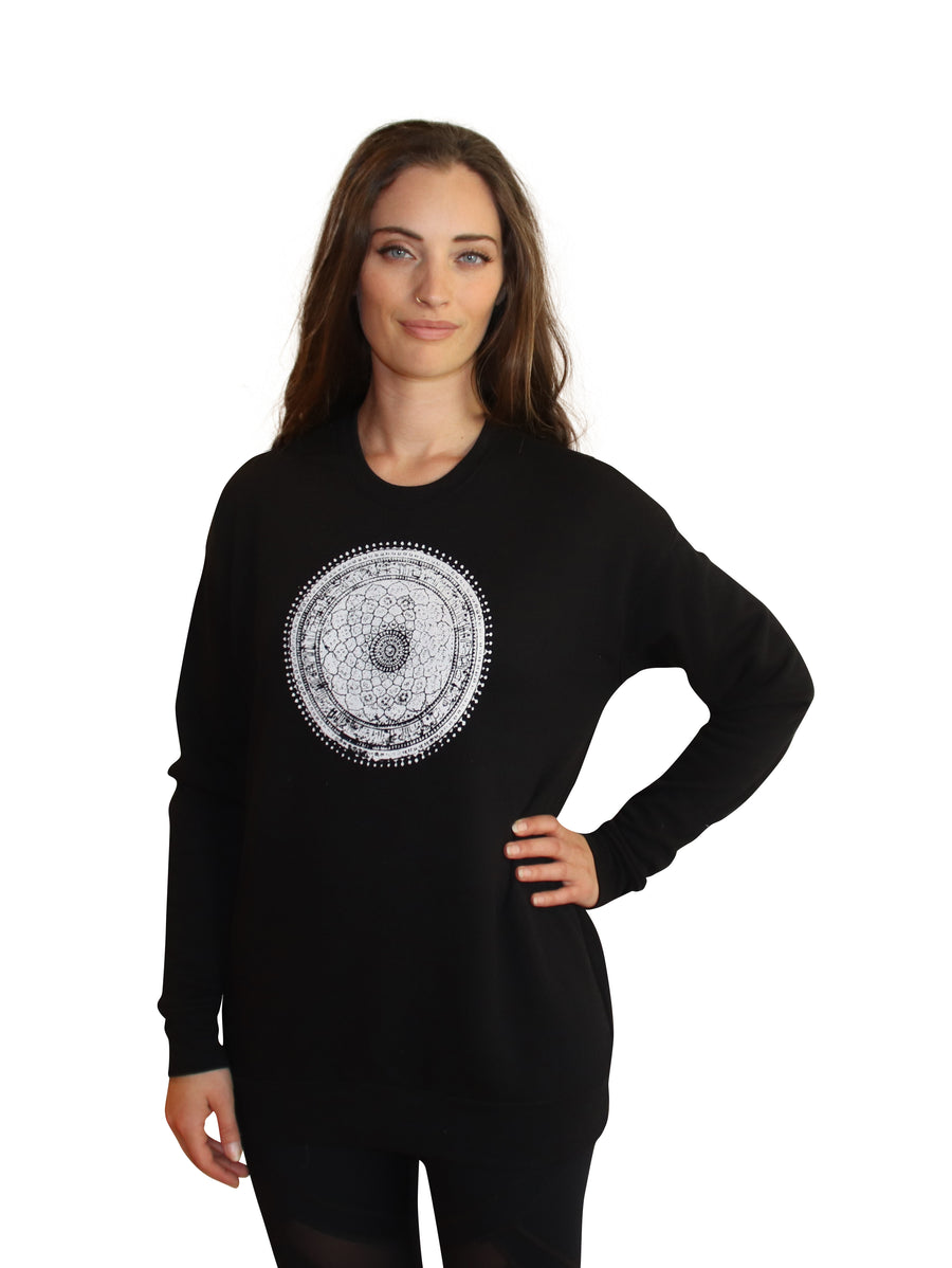 MANDALA Print Full Length Crew Neck-Wholesale