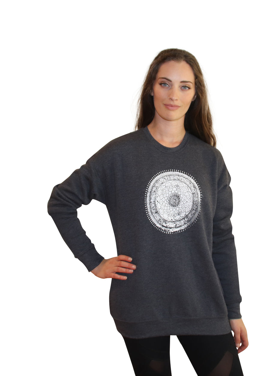 MANDALA Print Full Length Crew Neck