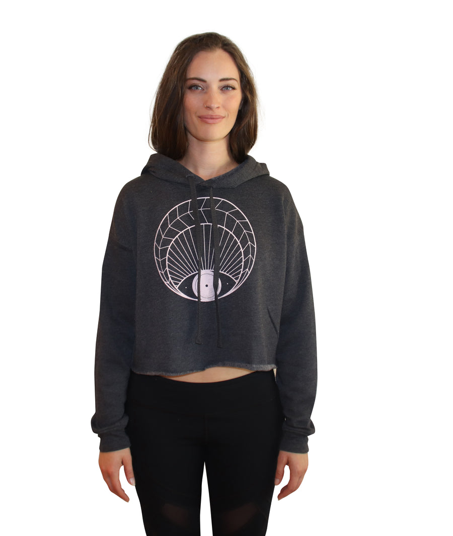 OPEN EYE Crop Hoodie - Wholesale
