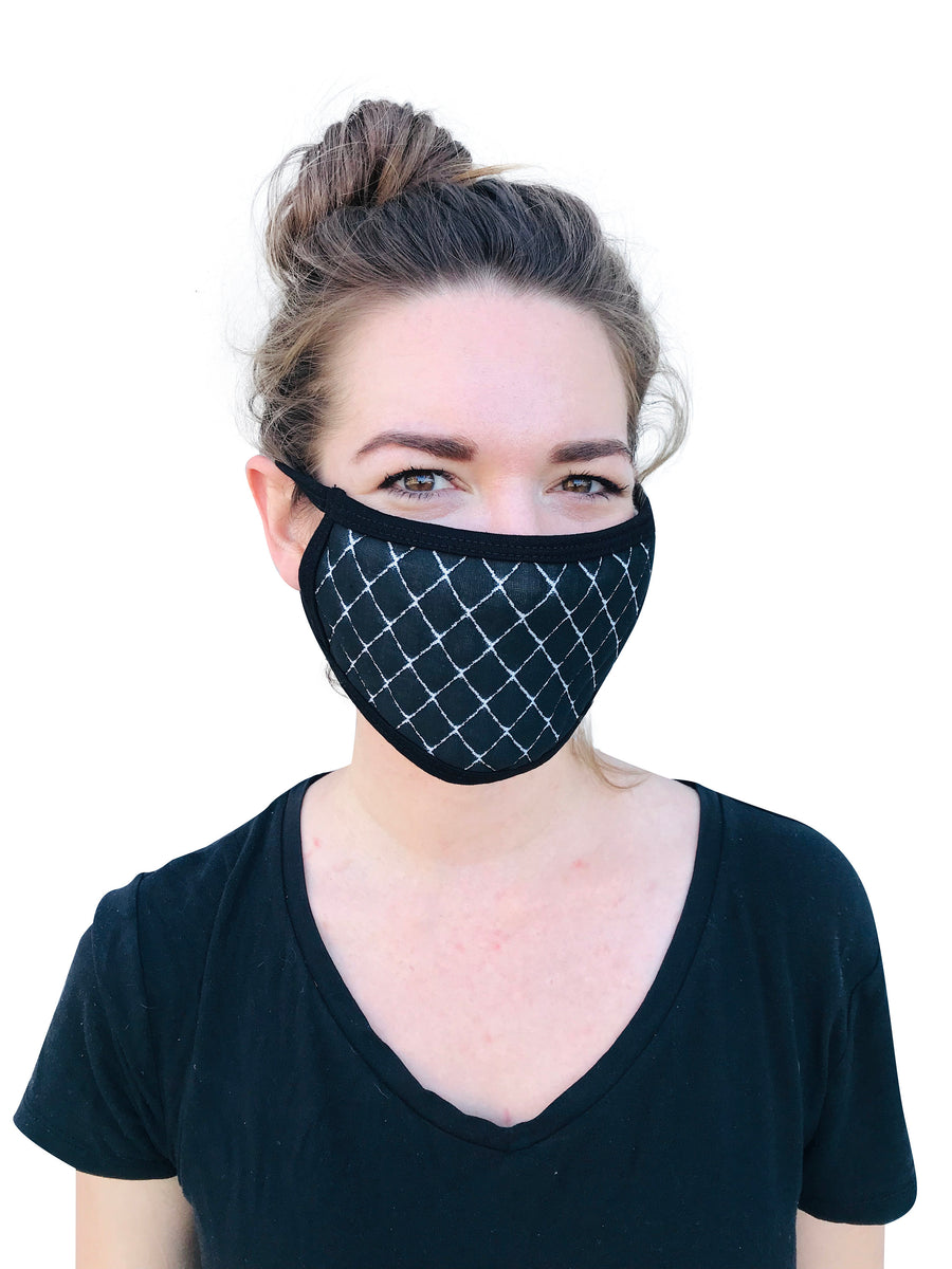 NEW Unisex Cloth Face Mask- Textured Designs, 2 layers/Reusable & Washable/Reversible/Made in the USA/One Size Fits All/ Ships Immediately!