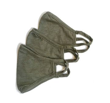 Cloth Face Mask double layered/Reusable & Washable/Unisex/Eco-Friendly/Breathable, Lightweight and Comfortable- Olive Green