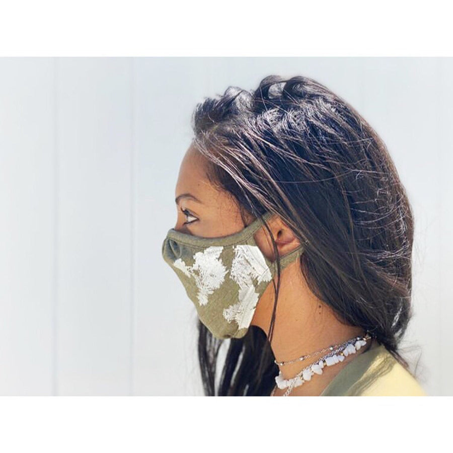 Cloth Face Mask- JOSHUA TREE Design - 2 layers 100% Cotton/Reusable & Washable/One Size Fits All/Eco-Friendly/Travel Mask- Ships Immediately