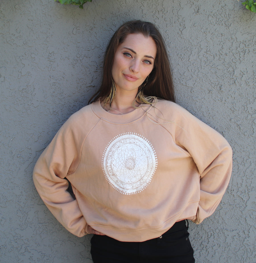 Mandala Raglan Fleece