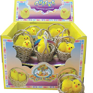 Easter Chicks in Baskets