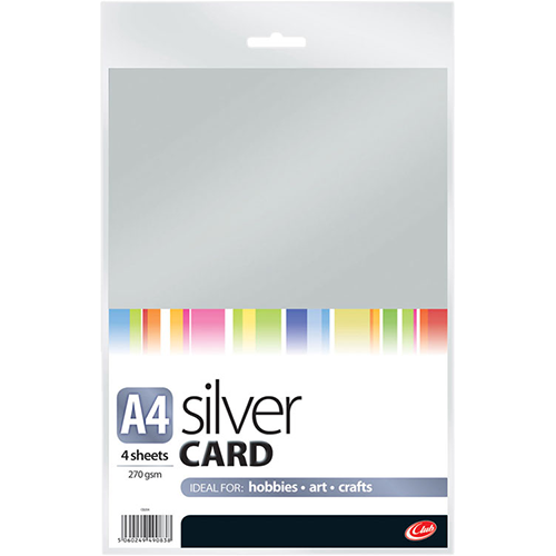 Silver Card 270gsm A4 4 sheets