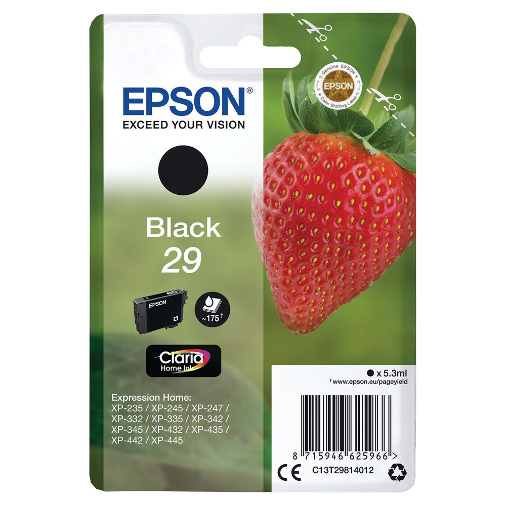 Epson 29 Black Inkjet Cartridge