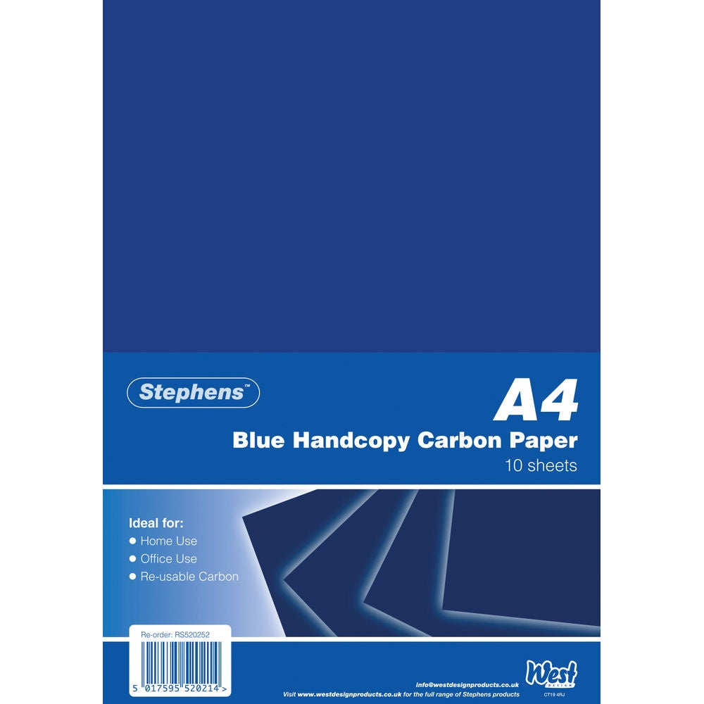 Stephens Black Carbon A4 Paper (Pack of 10)