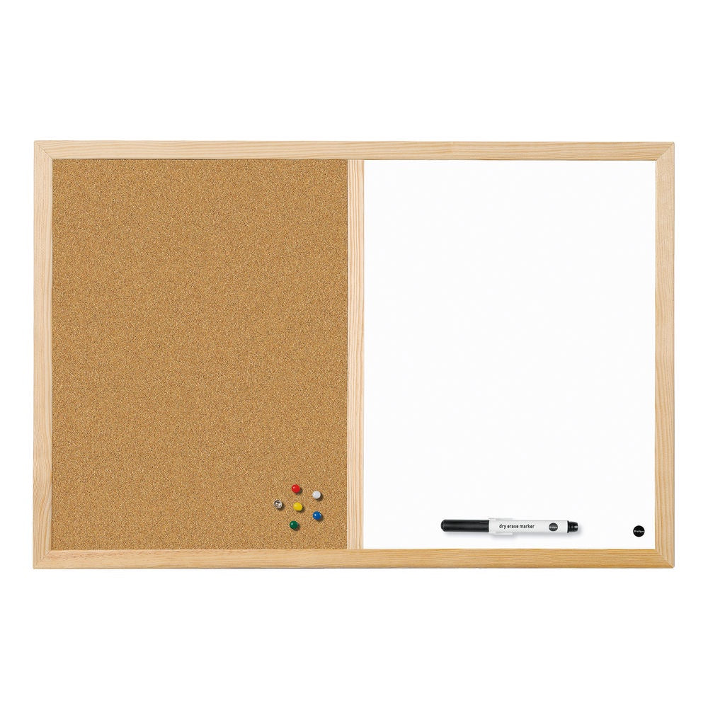 Bi-Office Cork and Drywipe Combination Board 600x400mm