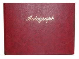 Autograph Book Blk, Blue and Red