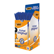 Load image into Gallery viewer, Bic Cristal Medium Blue Box 50