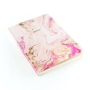 Go Stationery Marbleous A5 Notebook - Rose Quartz