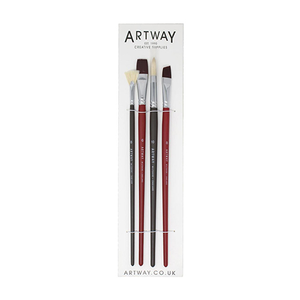 Artway Premium Long Handle Paint Brushes