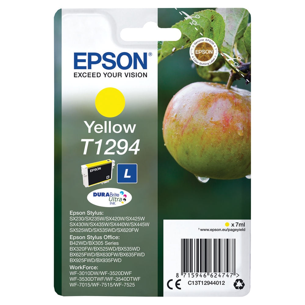 Epson T1294 Yellow Inkjet Cartridge