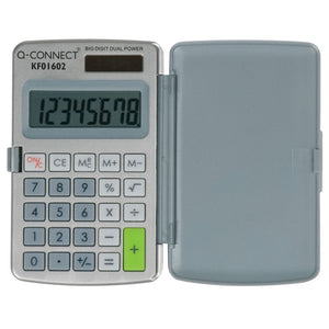 Q-Connect Calculator Pocket 8 Digit