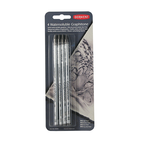 Derwent W/Sol Graphitone Pencil Blister of 4 34304