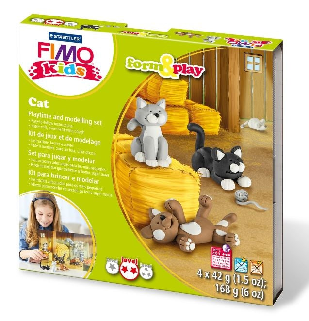 Fimo Cat Form & Play Set