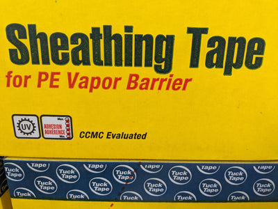 Tuck Tape Contractors' Sheathing Tape for PE Vapor Barrier