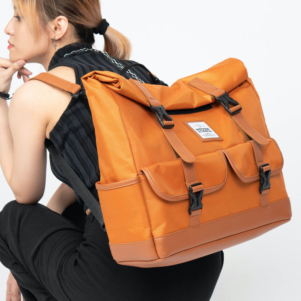 Traverse in Rust Bundle: 3-Way Waterproof Rolltop Bag