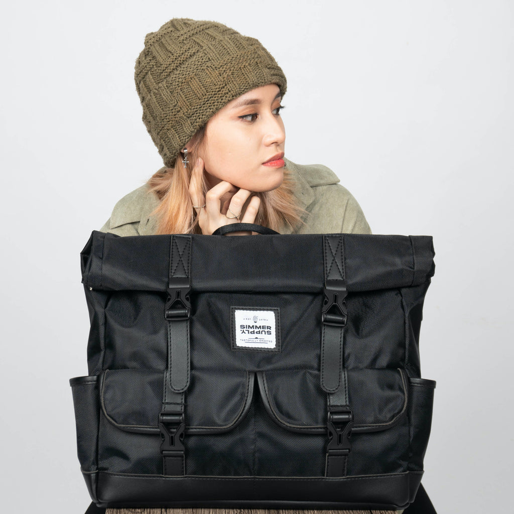 Traverse in Coal Bundle: 3-Way Waterproof Rolltop Bag