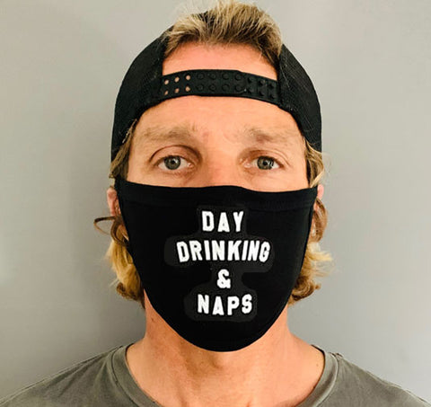 Day Drinking & Naps - Facemask - Black