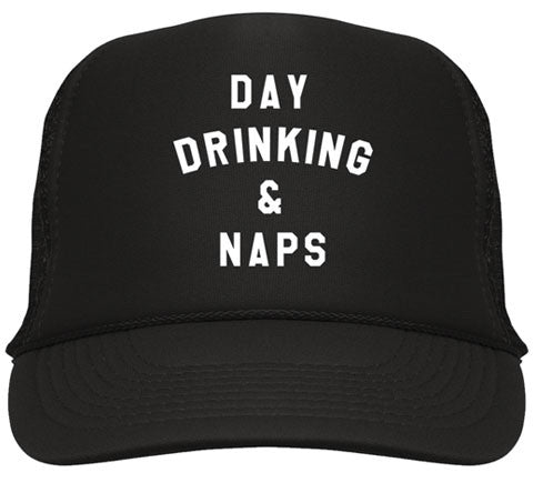 Day Drinking & Naps Trucker Hat - Black