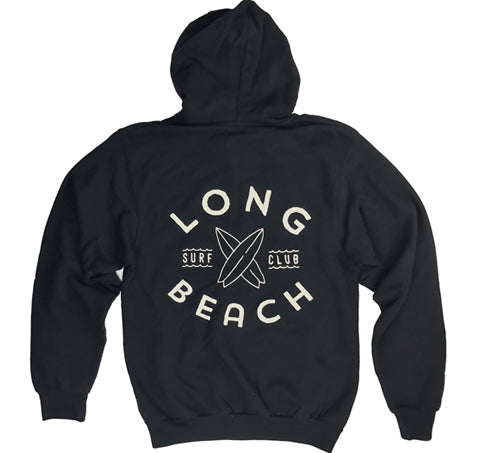 Long Beach Surf Club Hoodie - Black