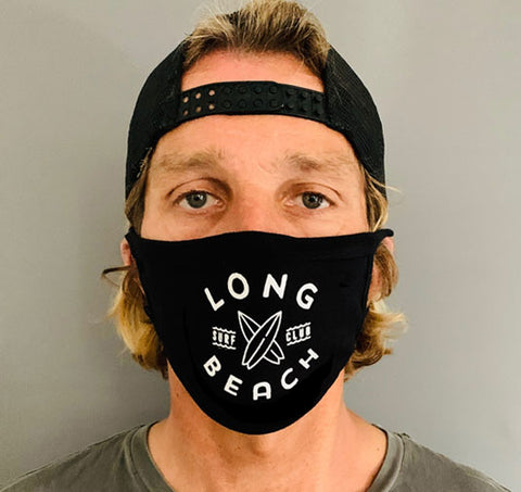 LB Surf Club - Facemask - Black