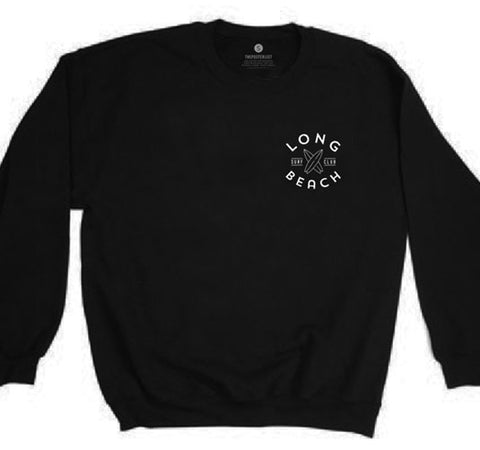 Long Beach Surf Club Sweatshirt - Black