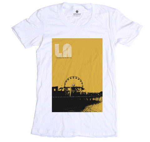 Santa Monica Pier - Womens - White