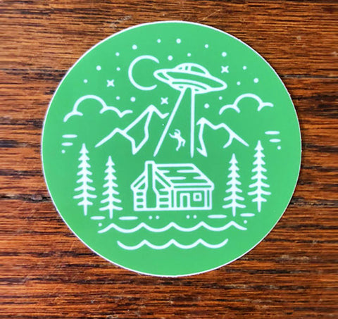 Abduct Me - All weather vinyl sticker