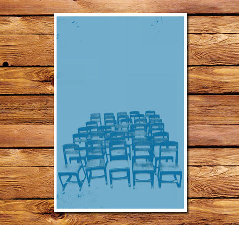 Blue Chairs Poster