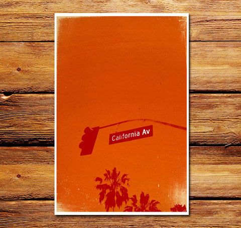 California Ave Poster