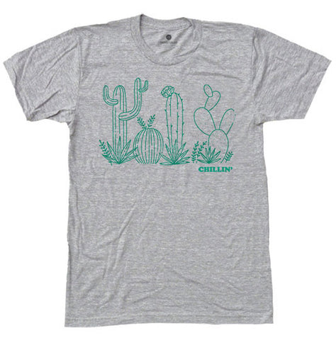 Chillin' Cactus - Heather Grey