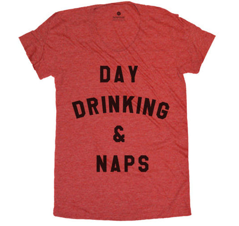 Day Drinking & Naps - Womens - Heather Red