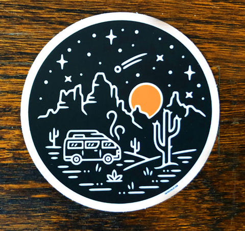 Desert Sundown - All weather vinyl sticker