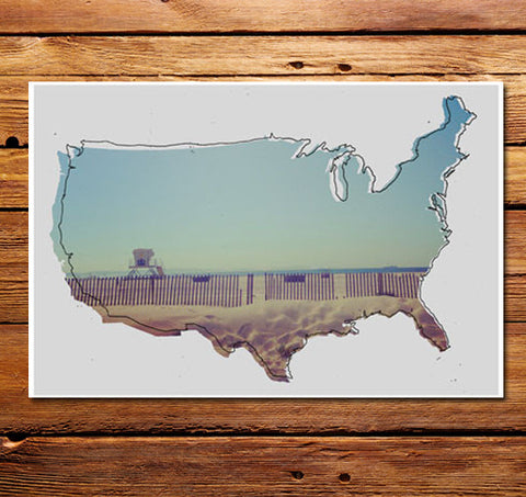 Empty Beach USA Poster