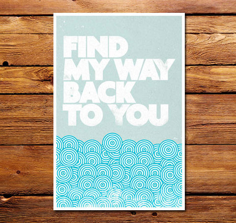 Find My Way Back To You Poster