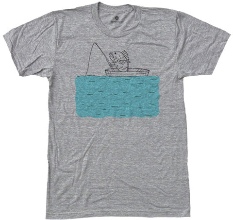 Fishing Fish - Heather Grey
