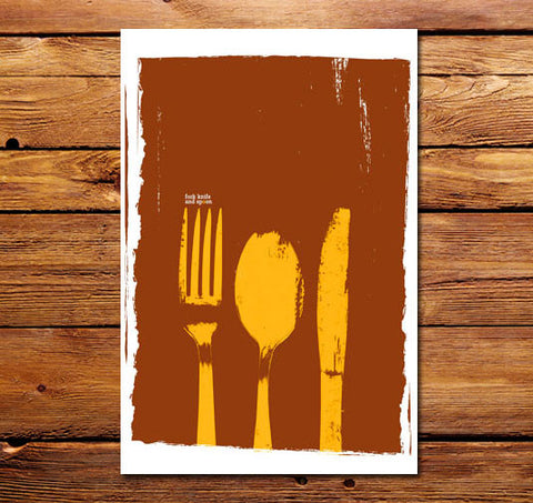 Fork Knife and Spoon Poster