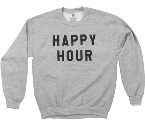 Happy Hour - Sweatshirt - Heather Grey