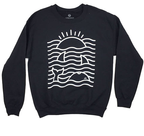 Ocean Waves - Sweatshirt - Black